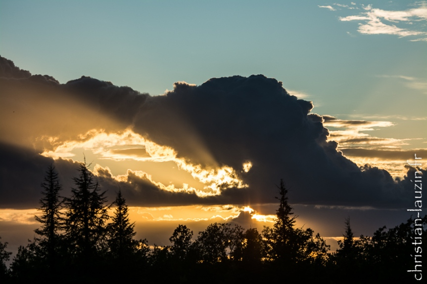 Un coucher de soleil à Saint Paul de Loubressac