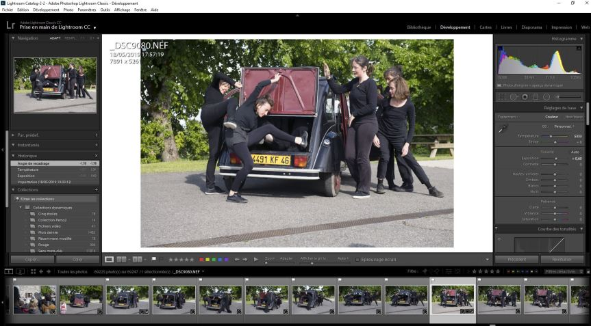 Stage Post-production avec Lightroom